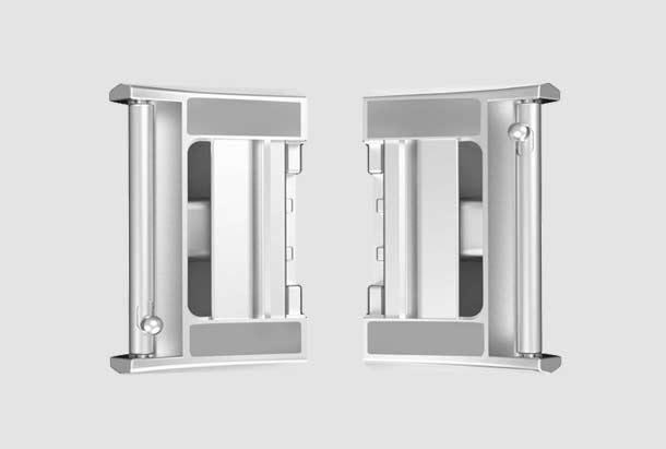 Adapter voor Fitbit Charge 2 Bandje - Zilver