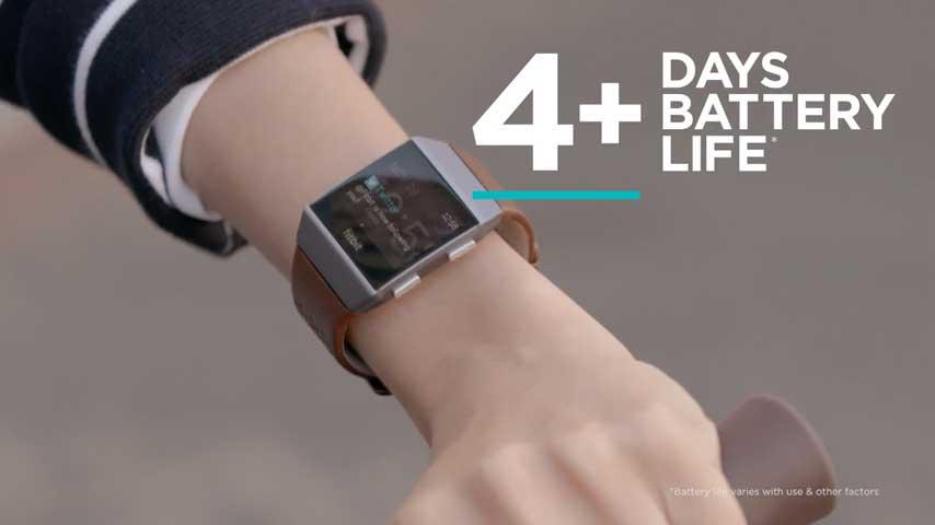 Fitbit Ionic Smartwatch maakt je leven makkelijk - 4 uur batterijduur