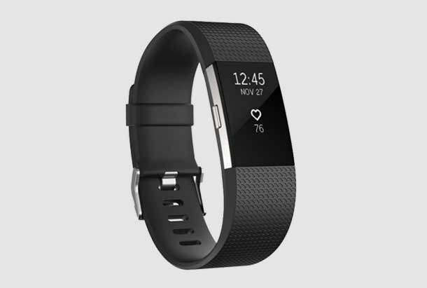 Fitbit Charge 2 Luxe Siliconen Bandje Zwart