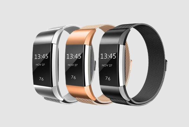 Fitbit Accessoires - Fitbit Charge 2 - Milanees Bandje Set Fitbit Kopen