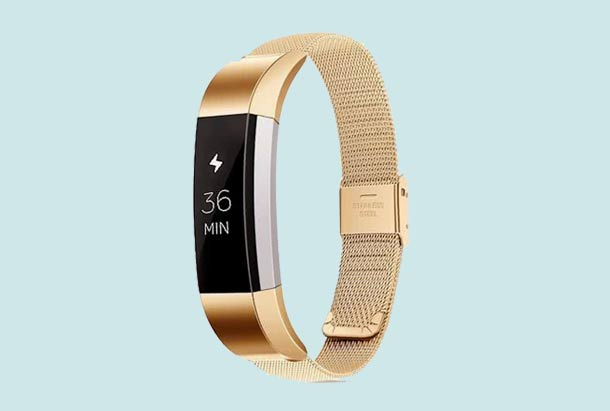Fitbit Alta HR armbandje - Milanees - Retro Gold