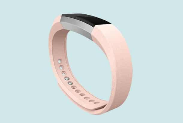 Bandje voor Fitbit Alta - Leren -Roze