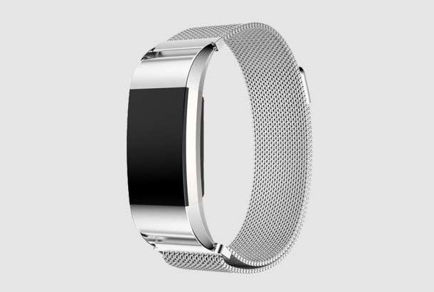 Fitbit Charge 2 Milanese Bandje Zilver met magneetsluiting