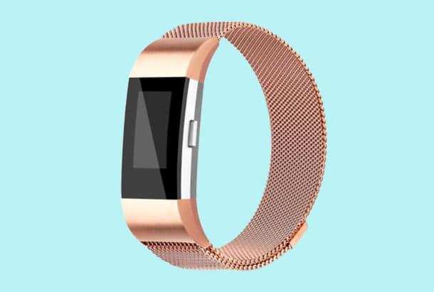 Fitbit Charge 2 bandje Milanees armband Rose Goud