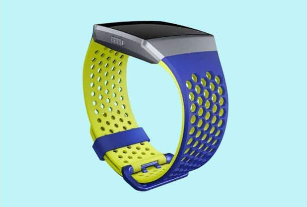 Fitbit Ionic Accessoires Fitbit Ionic Sportbandjes kleur blauw en geel