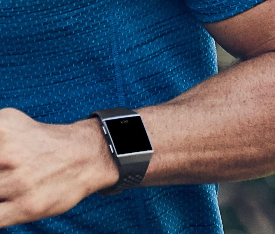 Fitbit Ionic Smartwatch Sportbandje Zwart Grijs