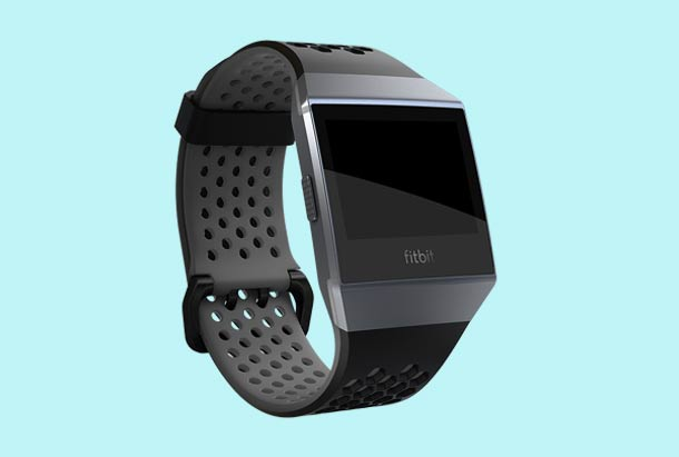 Fitbit Ionic Sportbandje Kleur Zwart Grijs