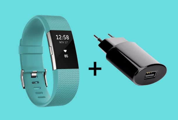 fitbit charge 2 opladen via stopcontact