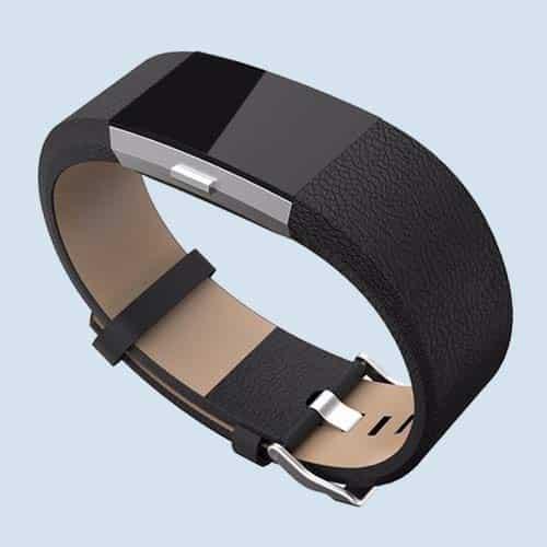Fitbit Charge 2 leren bandjes zwart kopen