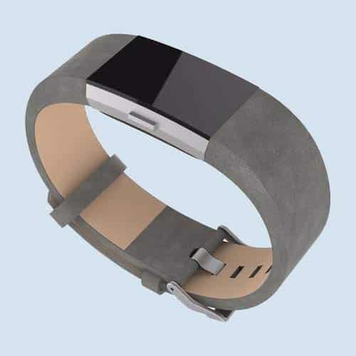 Fitbit Charge 2 leren bandjes grijs