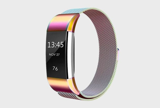 Fitbit Charge 2 bandje colorful armband van roestvrij staal