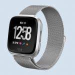 Fitbit Versa bandjes: Fitbit Versa bandje Milanees metaal zilver