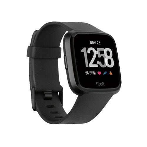 fitbit versa smartwatch 2018 zwart