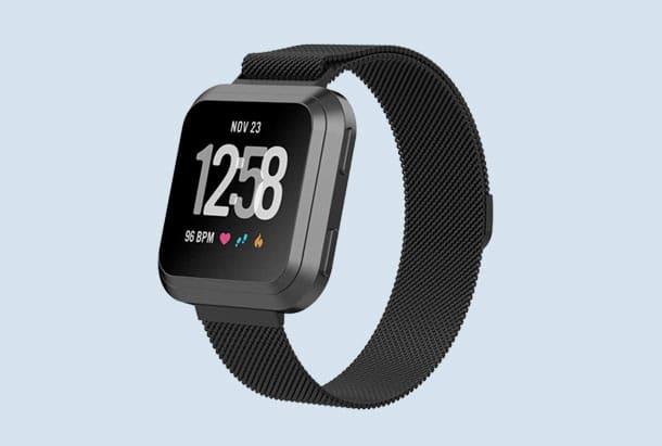 Fitbit Versa bandjes - Just in Case Milanees roestvrij meten armband met magnetische sluiting