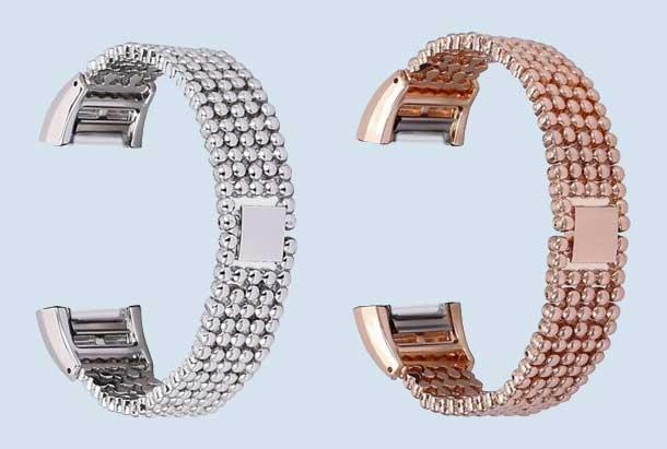 Beadstyle bandje Zilver en Goud geschikt voor Fitbit Charge 2 activity tracker kopen