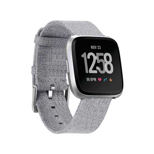 Fitbit Versa Smartwatch Special Edition Lavendel Bandje - Alternatief - Grijs