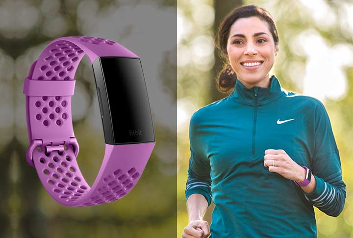 Fitbit Charge 3 Bandje Berry - Fitbit Charge 3 Activity tracker