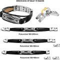 Fitbit Flex 2 – Metalen en leren bandje Diamond Woven – zwart zilver 2
