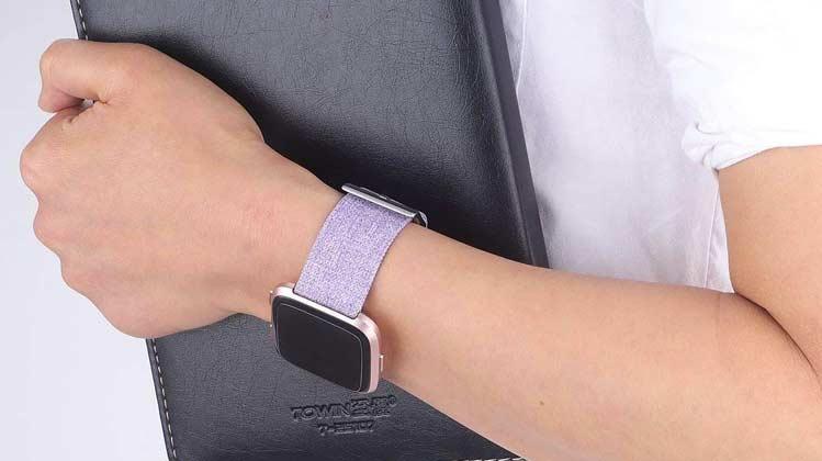 Fitbit Versa Smartwatch Special Edition Lavendel Bandje