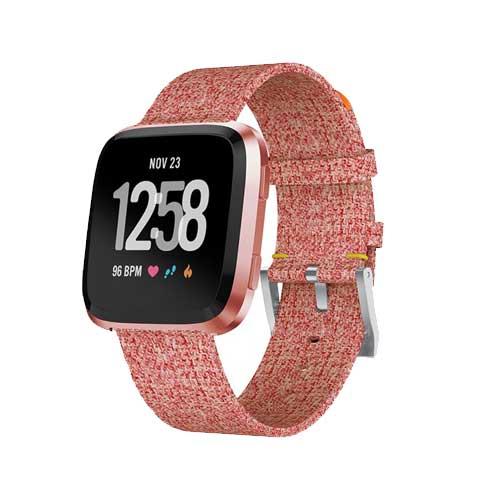 Fitbit Versa Smartwatch Special Edition Lavendel Bandje - Alternatief - Zalm Roze