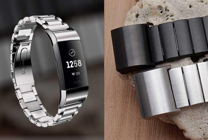 Fitbit Charge 3 metalen bandjes RVS metalen armband