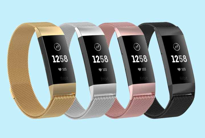 Fitbit Charge 3 - Milanees horloge armbandje / polsbandje - Activity tracker - horloge band