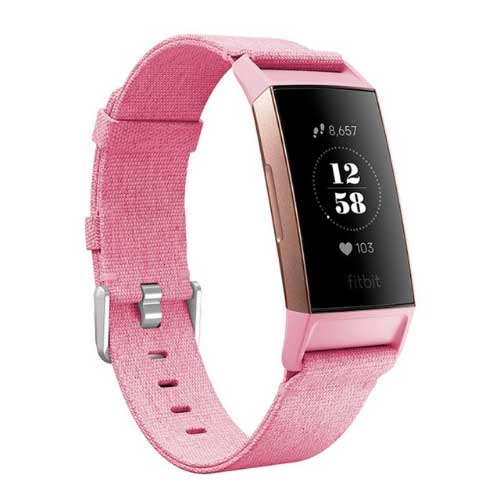 Fitbit Charge 3 Bandjes - Geweven Band Roze - Fitbit Kopen