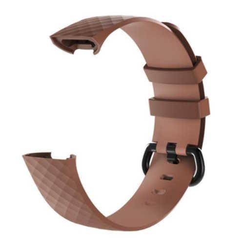 Fitbit Charge 3 bandjes - Classic bandje - Bruin