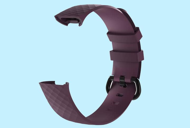 Fitbit Charge 3 - Siliconen bandje = paars