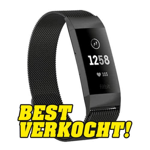 Fitbit Charge 3 Milanese Horloge Bandje Zwart