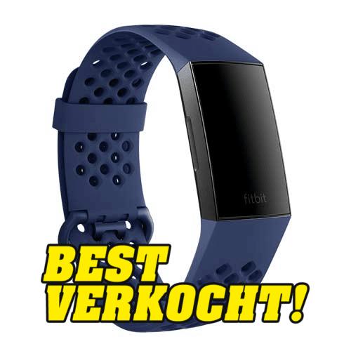Fitbit Charge 3 Sportbandjes - Sportbandje Blauw
