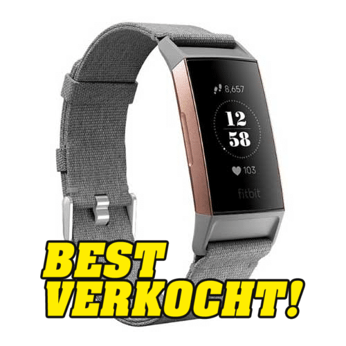 Fitbit Charge 3 Bandjes - Geweven Band Grijs - Fitbit Kopen