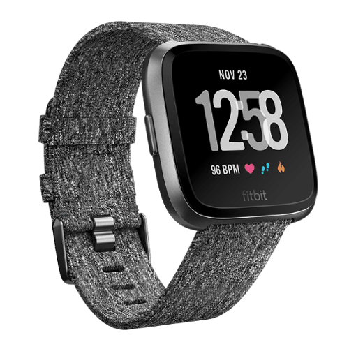 Fitbit Versa - Special Edition - Smartwatch - Donkergrijs