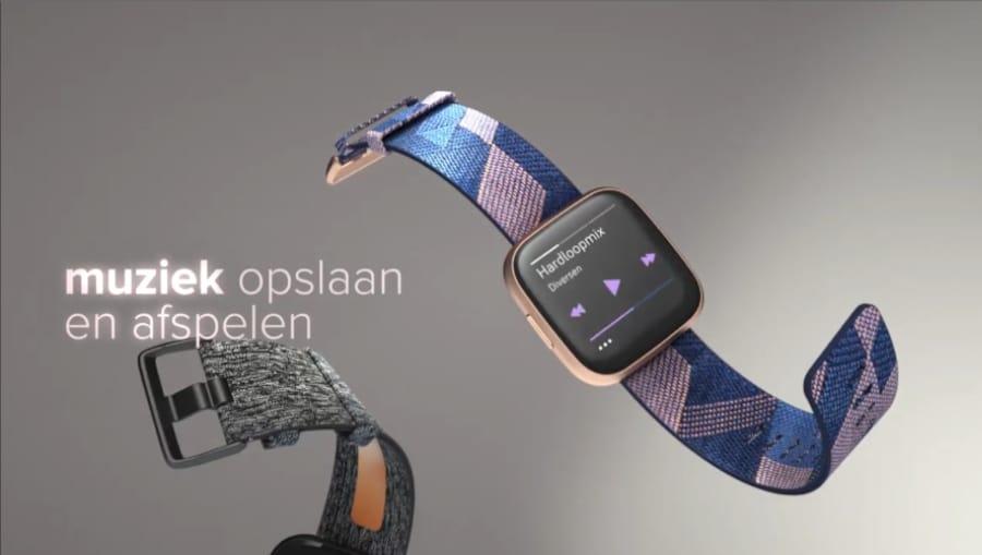 Nieuwe Fitbit Versa 2 Smartwatch (2019) Fitbit nieuwste Smartwatch - Muziek opslaan en afspelen