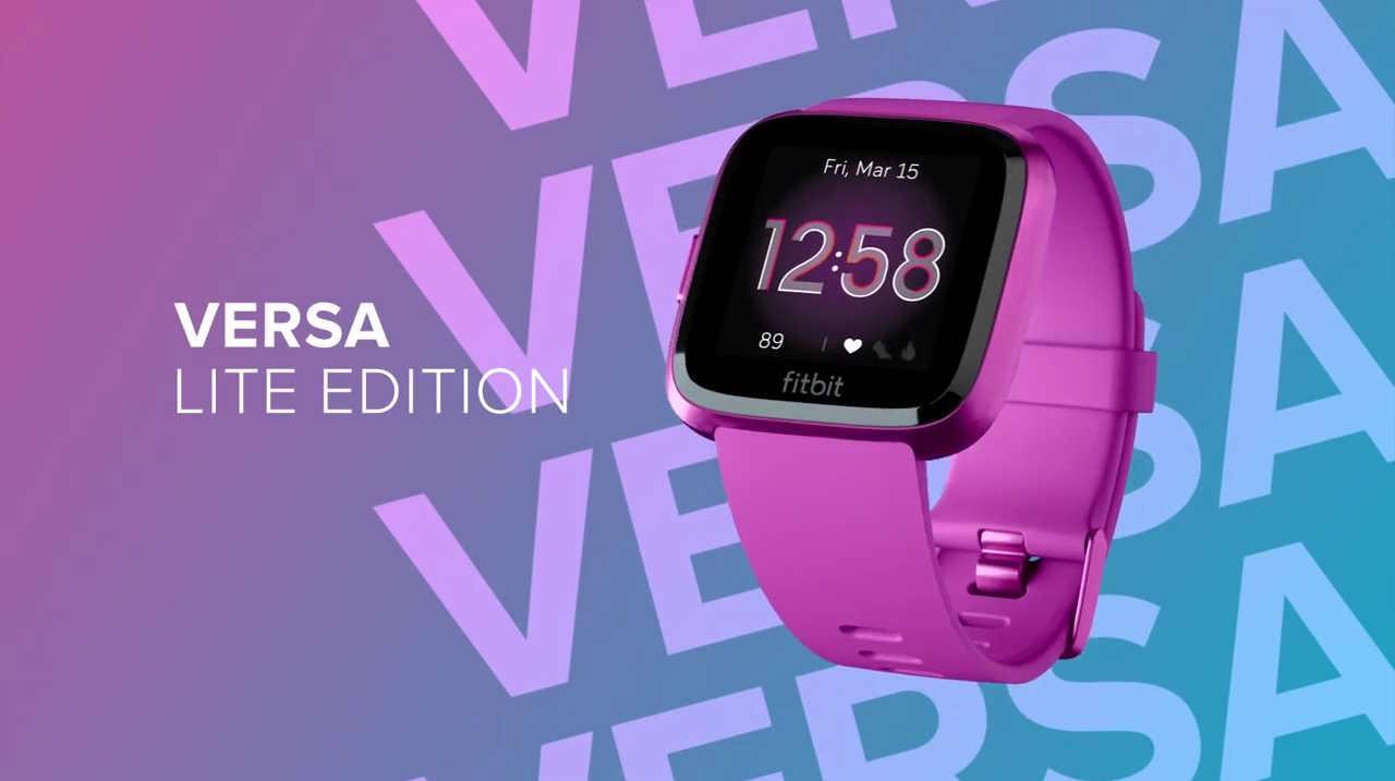 Fitbit Versa Lite Edition smartwatch 2019