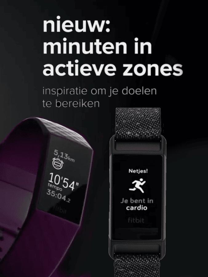 Fitbit Charge 4 2020 - Nieuw: minuten in actieve zones. Inspiratie om je doelen te bereiken.