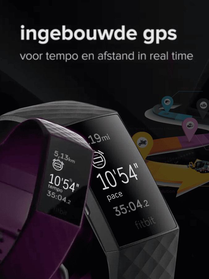 Fitbit Charge 4 - Ingebouwde GPS voor tempo en afstand in real time