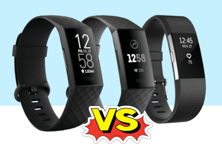 Verschil Fitbit Charge 4 , Charge 3 en Charge 2