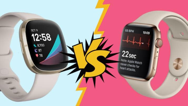 Fitbit Sense vergelijken met Apple Watch 5