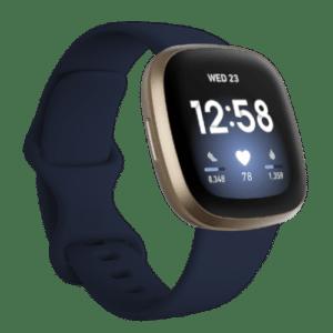 Fitbit Versa 3 - Smartwatch - 2020 - Blauw/Goud
