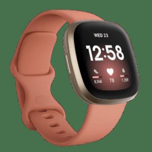 Fitbit Versa 3 - Smartwatch - 2020 - Roze/Goud