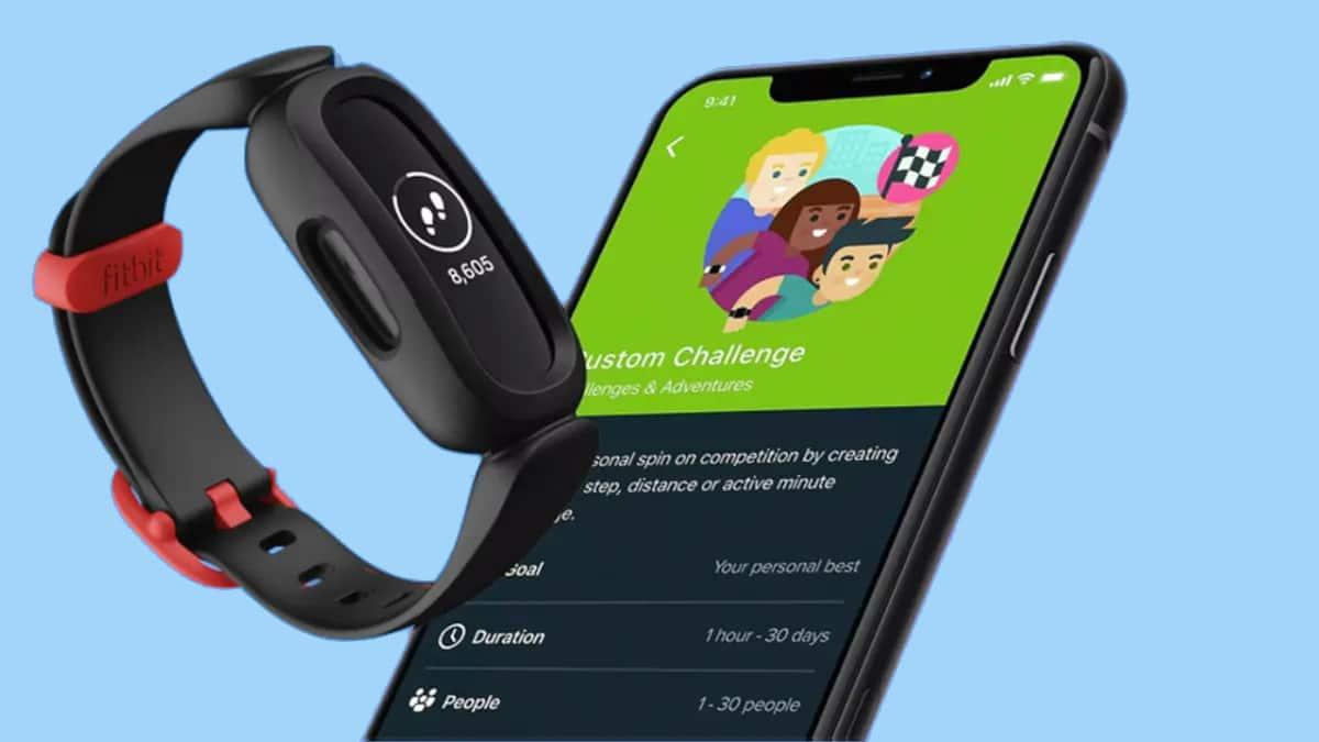 fitbit ace 3 kids fitness tracker voor kinderen - blauw staooenteller